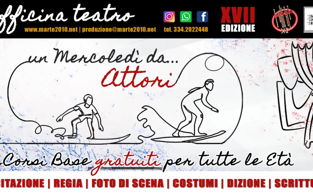 OFFICINA TEATRO – XVII edizione                            ISCRIZIONI ai laboratori GRATUITI